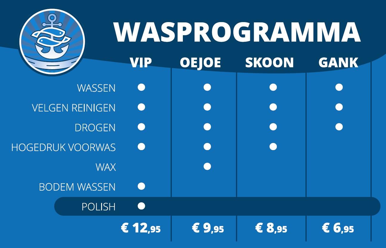 Prijzen autowassen Westal Urk